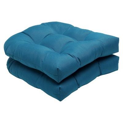 Sunbrella 2 Piece Outdoor Wicker Seat Cushion Set Target