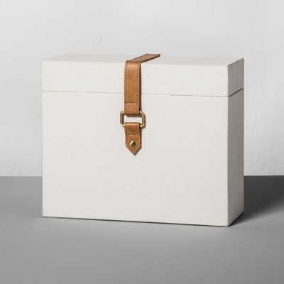 Document Box with Faux Leather - Natural Canvas - Hearth & Hand™ with Magnolia