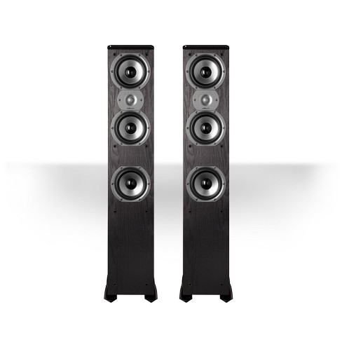 "Polk Audio TSi400 4-Way Tower Speakers with Three 5-1/4"" Drivers - Pair (Black) - image 1 of 3"