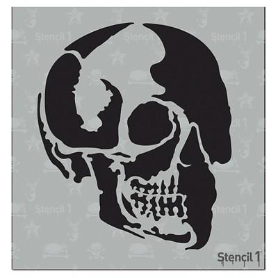 """Stencil1 Skull Profile - Stencil 5.75"""" x 6"""""""