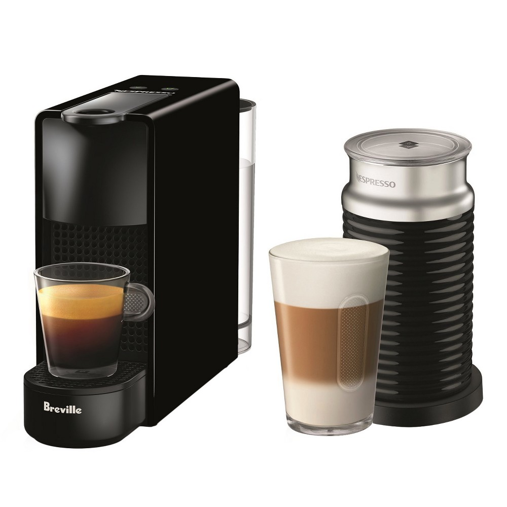 Nespresso Essenza Mini Espresso Machine Bundle with Aeroccino