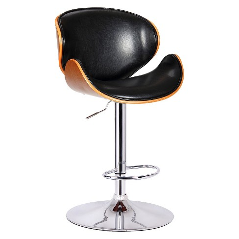 Osa Adjustable Swivel Barstool Steel/Black - Boraam - image 1 of 2