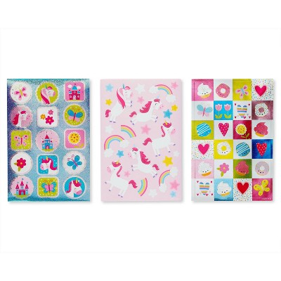 221ct Unicorn, Hearts, and Icons Stickers