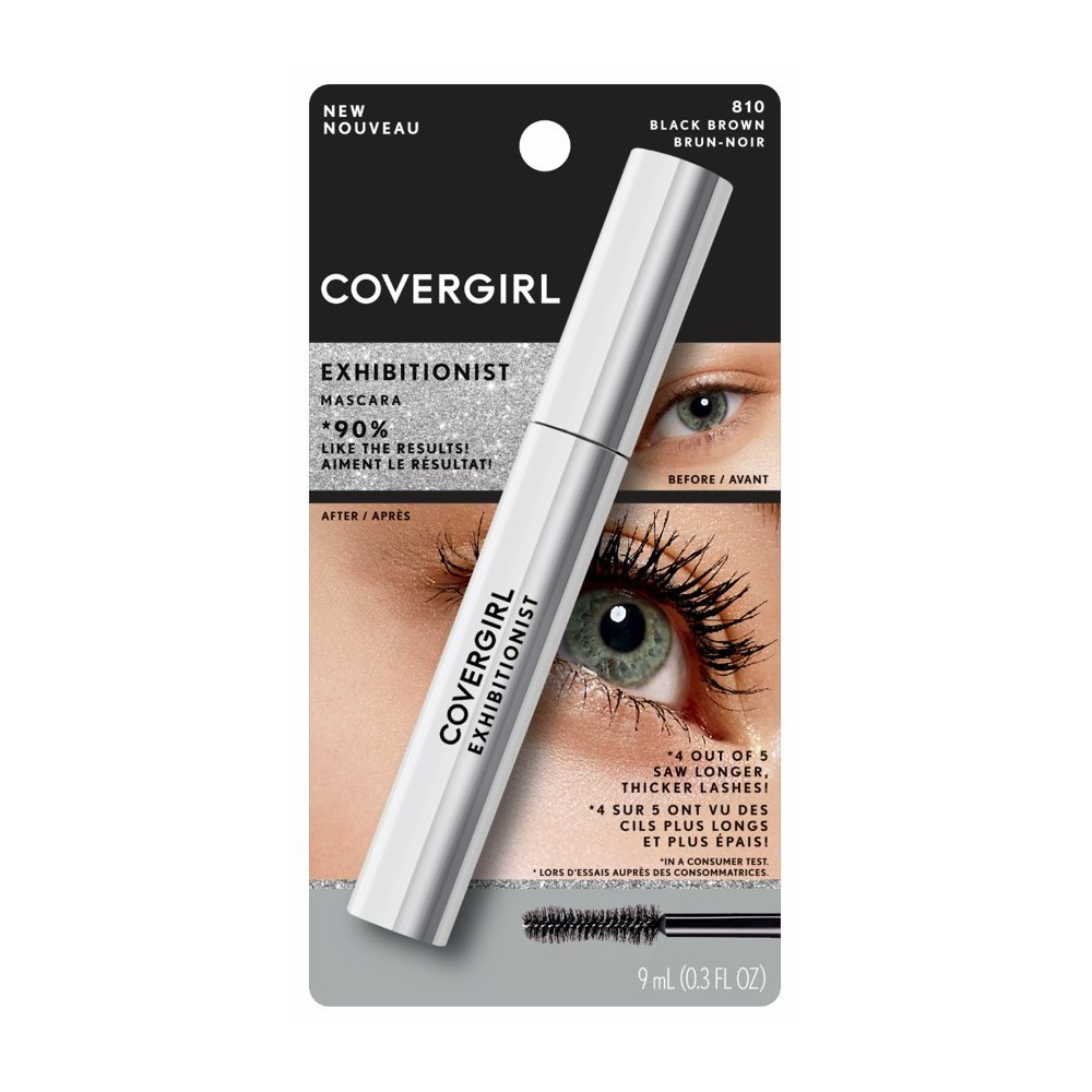 Image of COVERGIRL Exhibitionist Waterproof Mascara 810 Black-Brown - 1.15 fl oz