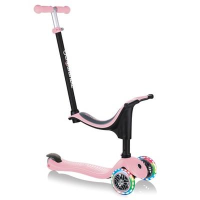 Globber Go Up 4 in 1 Lights Scooter - Pastel Pink