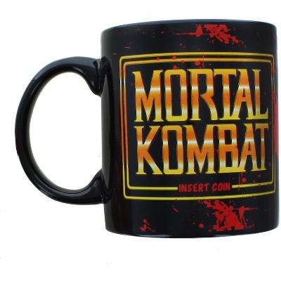 Silver Buffalo Mortal Kombat Arcade Logo 20 Ounce Ceramic Mug