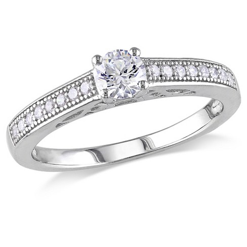 1 CT. T.W. Cubic Zirconia Promise Ring in Sterling Silver - image 1 of 2