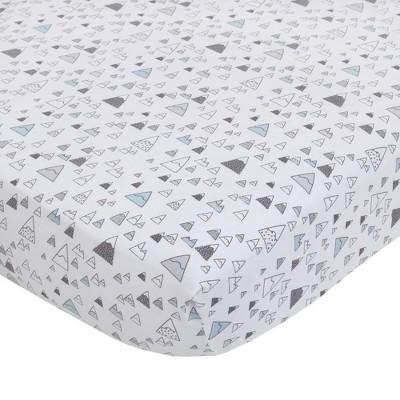 NoJo Dwellstudio Bear Hugs 100% Cotton Super Soft Fitted Crib Sheet - Mountains