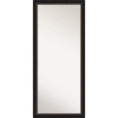"""28"""" x 64"""" Trio Oil Rubbed Framed Full Length Floor/Leaner Mirror Bronze - Amanti Art"""