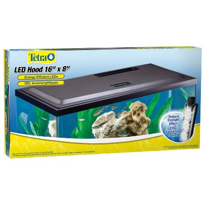 Tetra LED Hood 16 Inches By 8 Inches, Low-Profile Aquarium Hood With Hidden Lighting