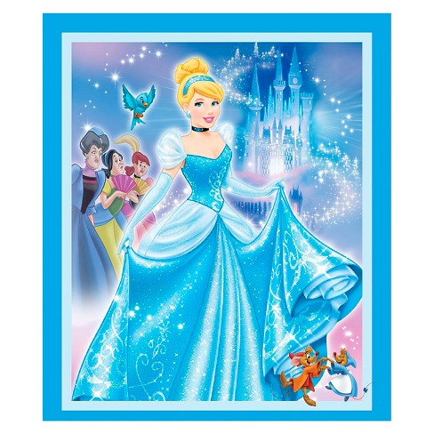 "Disney Princess Movie Moments, Blue, 100% Cotton, 43/44"" Width, Fabric by the Yard - image 1 of 1"
