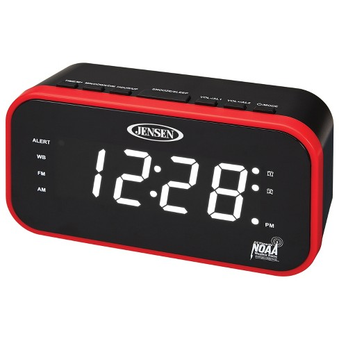 JENSEN AM/FM Weather Band Clock Radio with Weather Alert, Dual Crescendo Alarm, Dimmer (JEP-150) - image 1 of 4