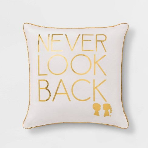 """Boy Meets Girl Never Look Back 18""""x18"""" Throw Pillow - image 1 of 5"""