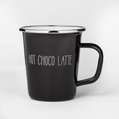 16oz Enamel Hot Choco Latte Mug Black - Project 62™