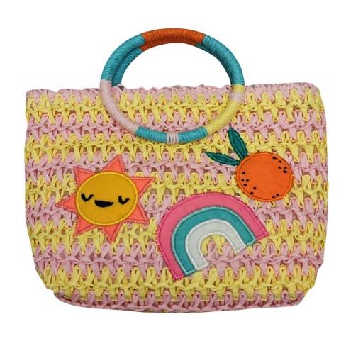 6c8126c8fb Toddler Girls  Patches Paper Straw Handbag - Cat   Jack™   Target