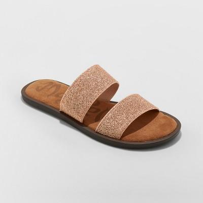 58d78baf94d Women s Mad Love Tahlia Elastic Two Band Slide Sandals