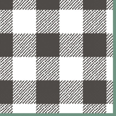 2ply 30ct Plaid Disposable Beverage Napkin - Spritz™ - image 1 of 1