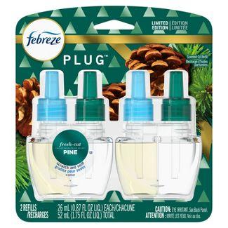 Febreze Odor-Eliminating Plug Air Freshener Refills - Fresh Cut Pine - 2ct/1.75 fl oz