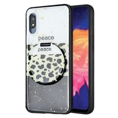 MYBAT Mirror Hybrid Peace Out Hard Plastic TPU Case For Samsung Galaxy A10e - Black