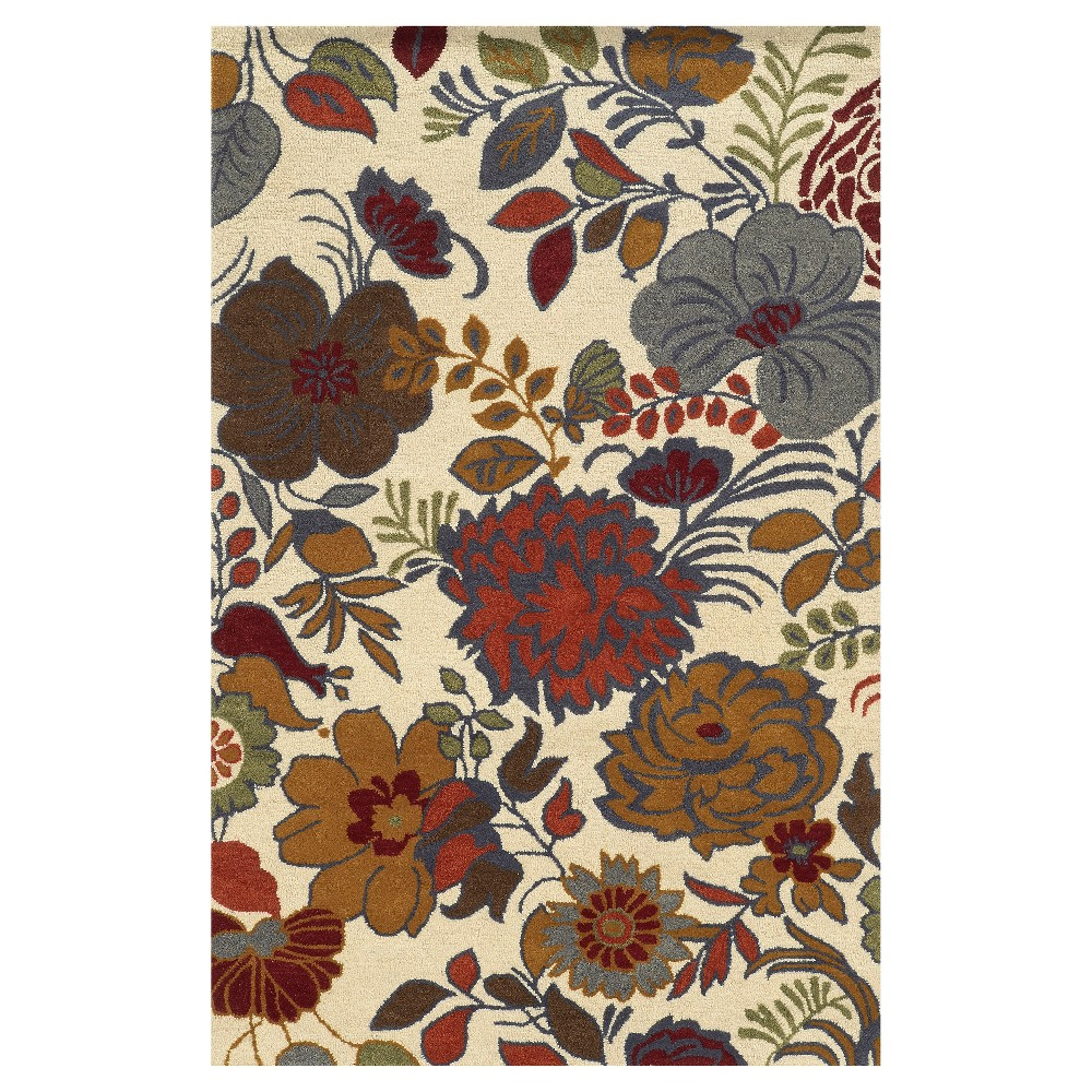 Promos 9X12 Floral Area Rug Stone - Rizzy Home