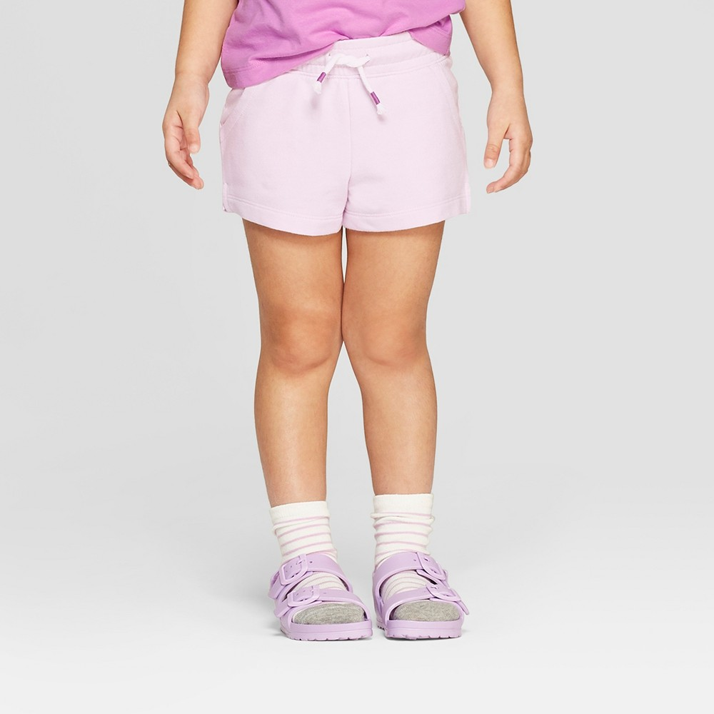 Toddler Girls' Straight Pull-On Shorts - Cat & Jack Purple 2T
