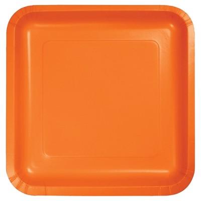 "Sunkissed Orange 7"" Dessert Plates - 18ct"