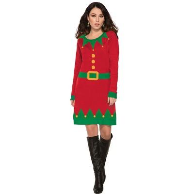 Forum Novelties Ugly Elf Christmas Sweater Dress