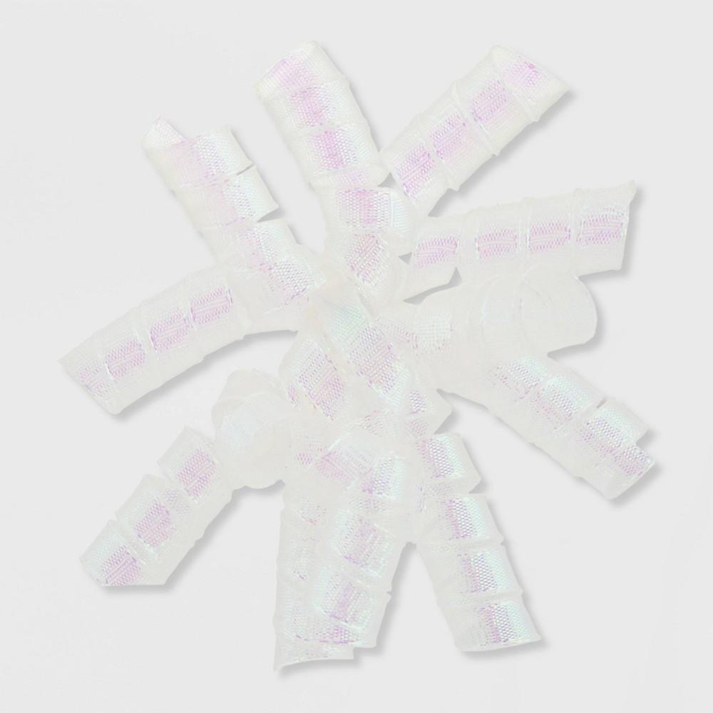 Image of Iridescent Fabric Swirl White - Spritz