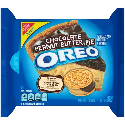 Oreo Chocolate Peanut Butter Pie Sandwich Cookies - 12.2oz - image 1 of 3