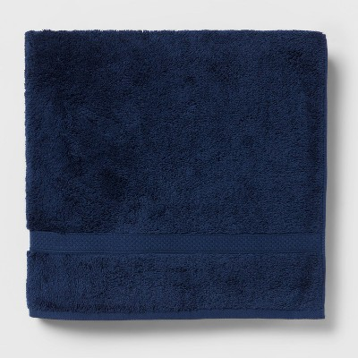 Perfectly Soft Solid Bath Towel Navy Blue - Opalhouse™