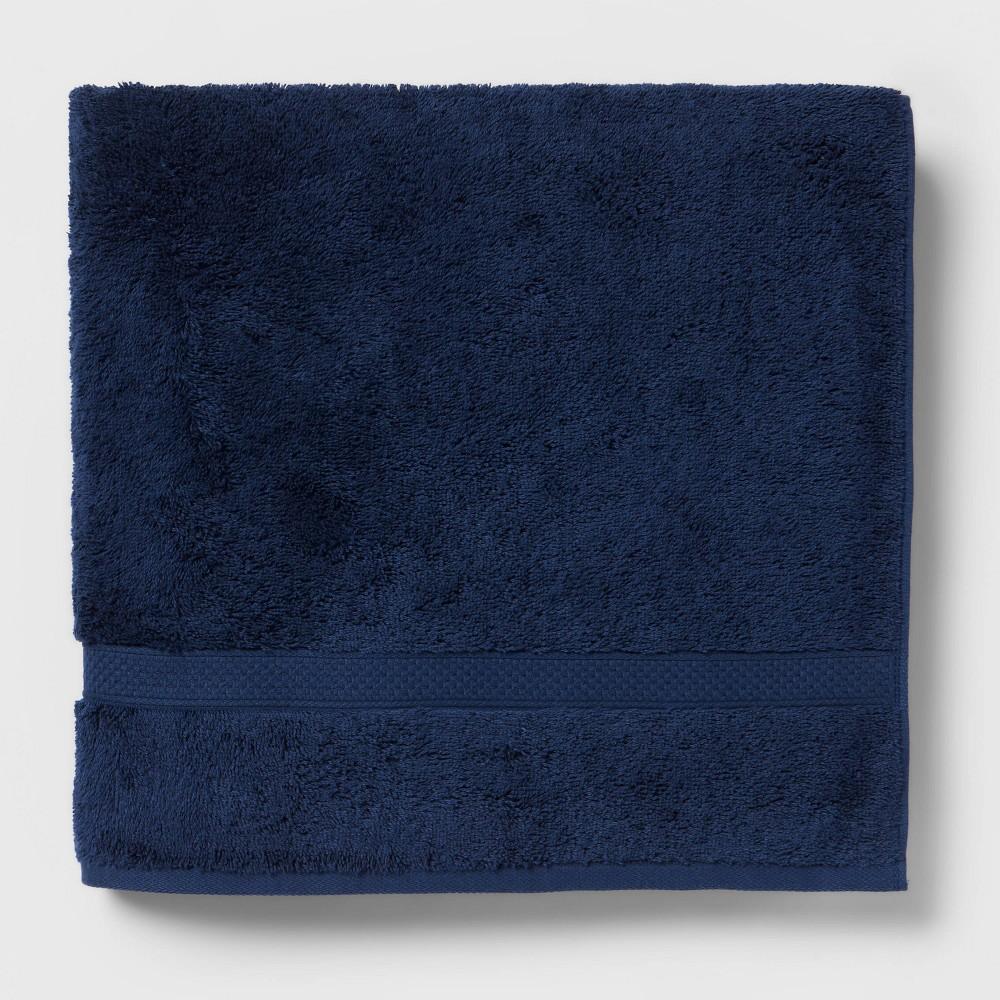 Perfectly Soft Solid Bath Towel Navy Blue Opalhouse 8482
