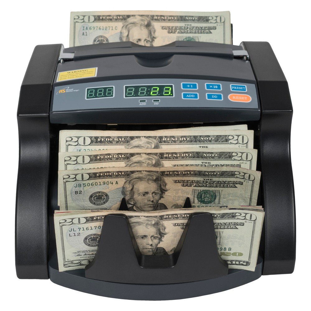 Royal Sovereign Bill Counter with 4 Hour Use Cycle - Supports New US $100 Notes Rbc-650PRO
