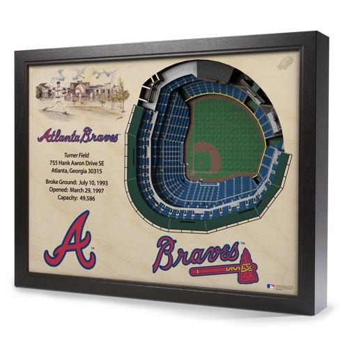 MLB Atlanta Braves 25 Layer Stadiumviews 3D Wall Art - image 1 of 4