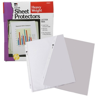 100ct Letter Size Sheet Protectors Clear - Charles Leonard
