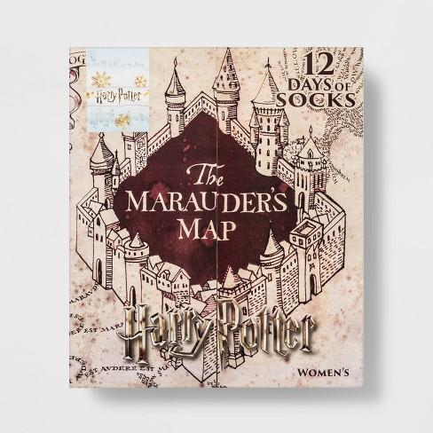 Women\'s Harry Potter Marauder\'s Map 12 Days Of Socks Advent Calendar ...