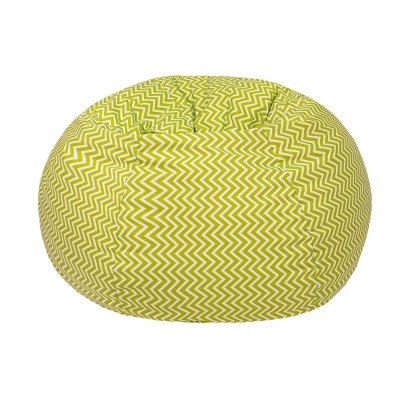 Toddler Cosmo ZigZag Print Bean Bag Chartreuse - Gold Medal