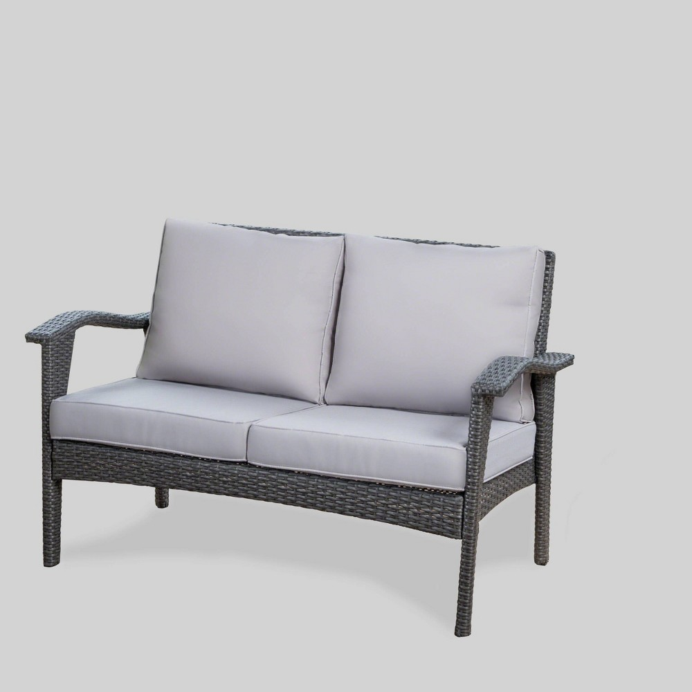 Honolulu Wicker Loveseat - Gray - Christopher Knight Home