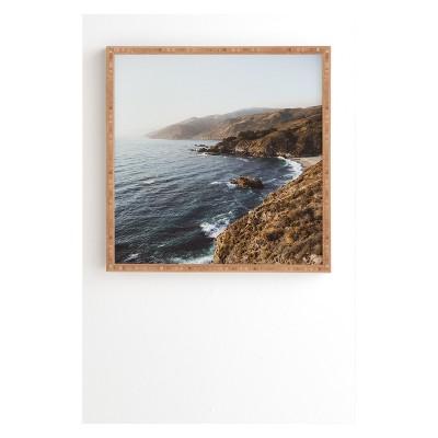 Garrett Lockh The Waves Framed Wall Art Blue - society6