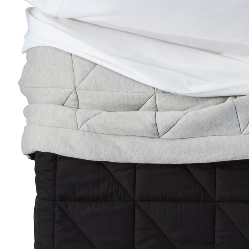 Jersey Comforter (Toddler) Gray - Pillowfort™ - image 1 of 2