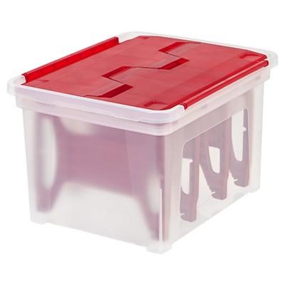 IRIS Christmas Light Storage Box with 4 Light Wraps