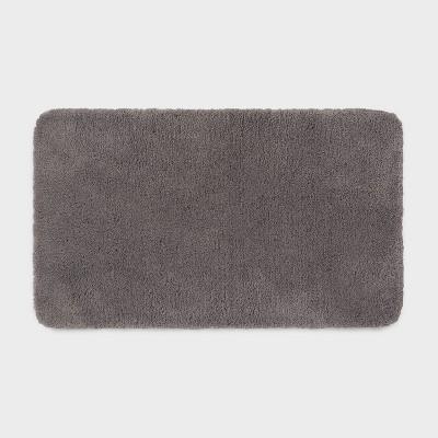 "20""x34"" Performance Nylon Bath Rug Dark Gray - Threshold™"