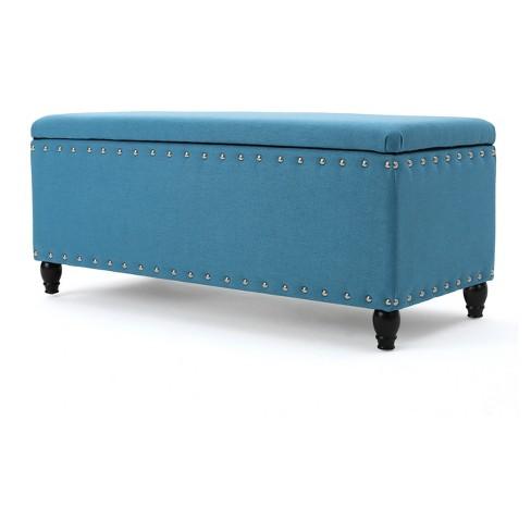 Wondrous Tatiana Storage Ottoman Teal Christopher Knight Home Uwap Interior Chair Design Uwaporg
