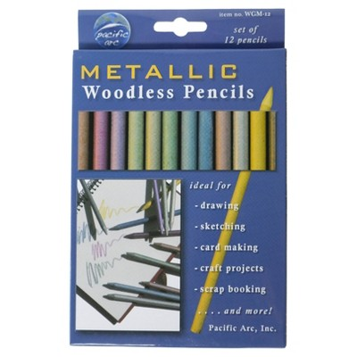 12ct Woodless Graphite Drawing Pencils Metallics - Pacific Arc