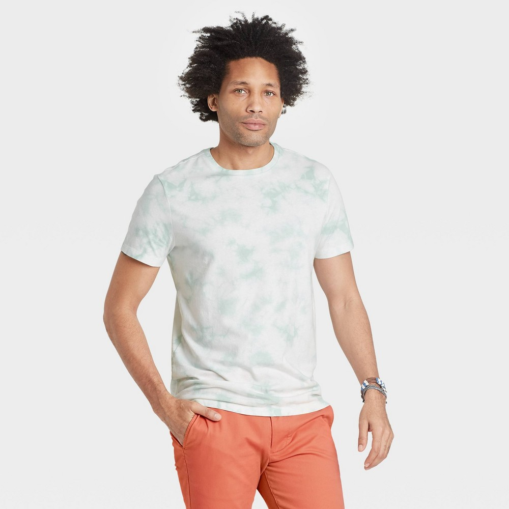 Men 39 S Tie Dye Regular Fit Crewneck T Shirt Goodfellow 38 Co 8482 Hedge Green S