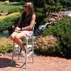 Woodway Plastic Patio Barstool Chair - Light Green - Sunnydaze Decor - image 4 of 4
