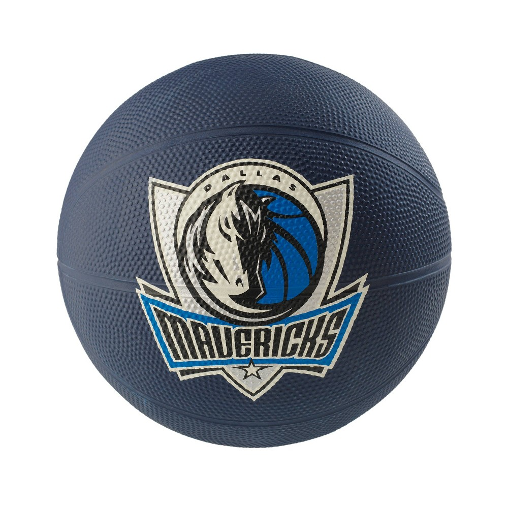 NBA Dallas Mavericks Spalding Mini Ball Size 3 Rubber Basketball