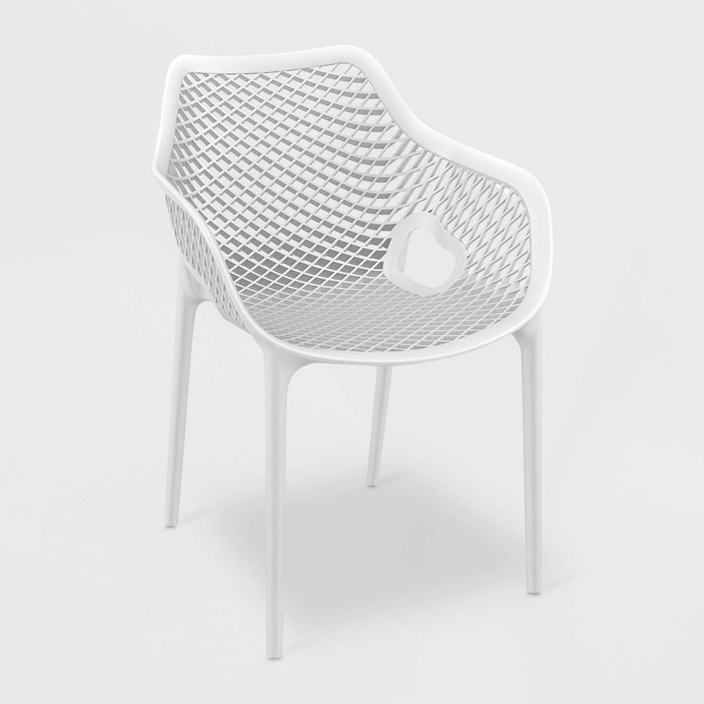 Grid Xl 4pk Patio Armchair - White - Resol