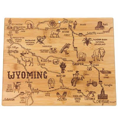 Totally Bamboo Destination Wyoming Serving and Cutting Board