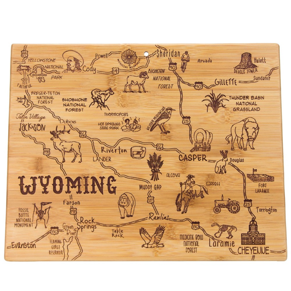 Compare Totally Bamboo Destination Wyoming Serving and Cutting Board