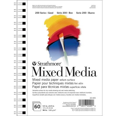 60ct Mixed Media Paper White - Strathmore